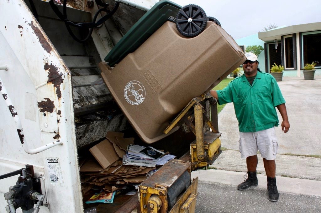 Curbside recycling in action for Guam residents