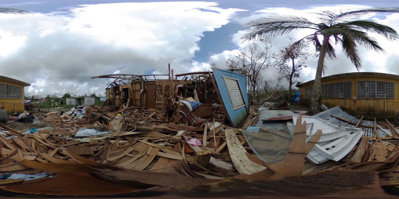 Image of debris from Hurricane Maria